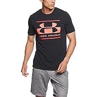 Under Armour, Blocked Sportstyle Logo, Maglietta A Maniche Corte, Uomo, Nero (Black/Pierce/Neon Coral 002), L