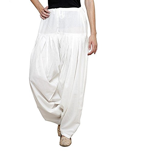 kalpit creations Women's plain Cotton Comfort Punjabi semi-Patiala Salwar Bottom Pants for...