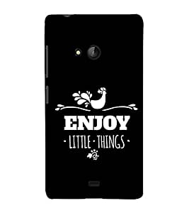 FUSON Enjoy Little Things 3D Hard Polycarbonate Designer Back Case Cover for Microsoft Lumia 540 Dual SIM