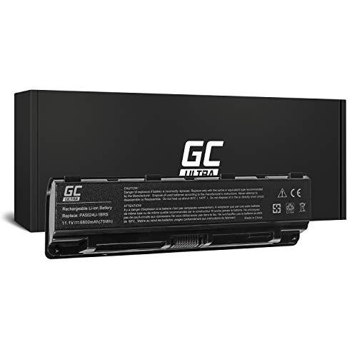 GC® Ultra Serie Laptop Akku für Toshiba Satellite C850D-115 C850D-117 C850D-118 C850D-119 (Original Panasonic Zellen 6800mAh 11.1V Schwarz) -