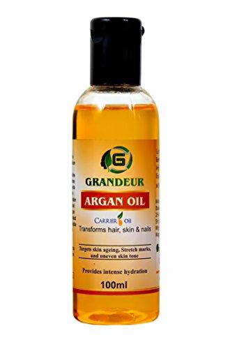 Grandeur 100% Pure Moroccan Argan Oil 100ml, for Dry and Coarse Hair & Skin care 100ml