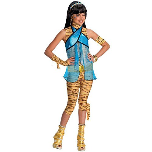 Monster High Cleo de Nile Gr. M (5-7 Jahre) Fasching Karneval Kostüm Kinderkostüm Mottoparty Kleid Boo York (Monster High Cleo De Nile Kind Kostüm)