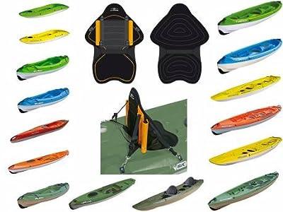Bic Backrest De Luxe Fishing Kayak Accessory - Black
