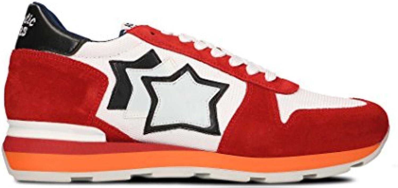 Atlantic Stars Herren SIRIUSRB85B Rot Leder Sneakers