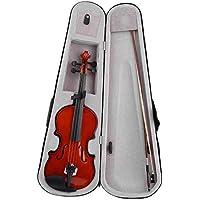 Violín acústico hecho a mano de violín acústico 4/4 de alto grado con estuche de transporte