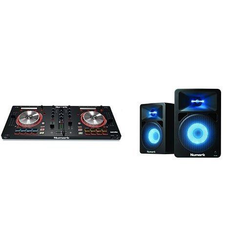 Numark MixTrack Pro III   2 Deck DJ Controller mit Audio I/O, Serato DJ Intro & Prime Loop Remix Tool Kit + Numark N-Wave 580L Aktive Desktop-Lautsprecher für DJs Bundle