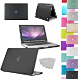 """LOVE MY CASE / NEW BLACK Rubberized See-Through Hard Case Cover for Apple Macbook Pro 13"""" 13.3"""" A1278"""