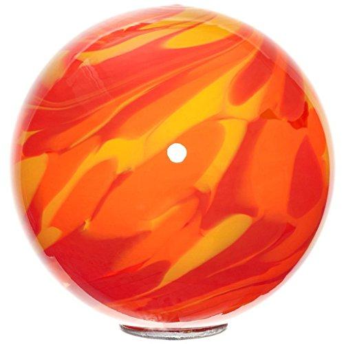 """mittlere Gartenkugel, Rosenkugel, Dekokugel """"SPOT M"""" rot-orange mit Multicolor, Ø 15 cm, mundgeblasenes Glas (GartenFlair powered by CRISTALICA)"""