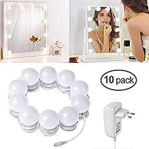 d6f0b3867 LTPAG Luces de Espejo Maquillaje, 10 LED Luz de Espejo de Tocador con Touch  Dimmer