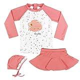 Fille Maillots de Bain, Enfant Costume de Natation 3-Pièces Anti-UV T-Shirt et...