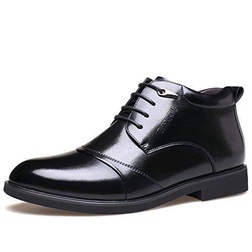 inverno cotone aggiunto scarpe/Pattini di vestito di affari di caldo-cravatta/ aiuto alta/ Inghilterra e cashmere scarpe-A Lunghezza piede=24.8CM(9.8Inch)