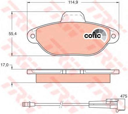 TRW Automotive AfterMarket GDB1115 Kit Pastiglie Freno, Freno A Disco