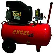 Excel CDF00291 Compressore Coassiale Lubrificato a Olio, 50 lt, Rosso
