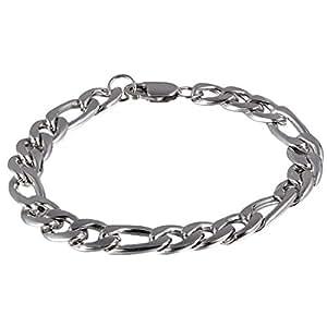 HOUSWEETY Bracelet Chaine Homme en Acier Inoxydable Multi Anneau