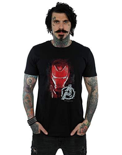 Marvel Herren Avengers Endgame Iron Man Brushed T-Shirt Schwarz XXXXX-Large (Shirts 5xl Marvel)