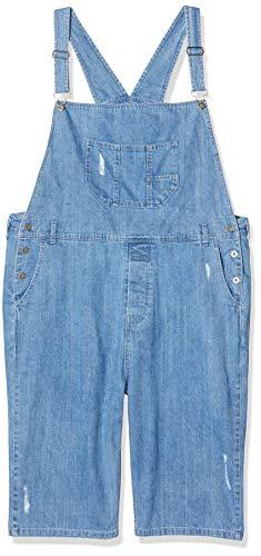 Urban Classics Herren Denim Short Dungaree Latzhose, Blau (Bleached Blue 00831), Large (Herstellergröße: L)