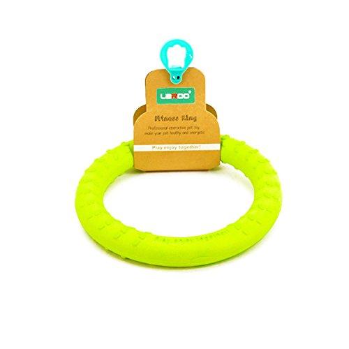 Hundespielzeug, LaRoo Hunde Fliegen Ring Frisbee Haustiere Flying Disc Non-Toxic Fitness Ring für Hunde - Lemon