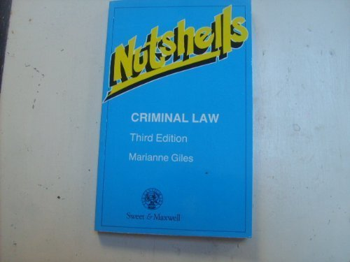 Criminal Law in a Nutshell (Nutshells)