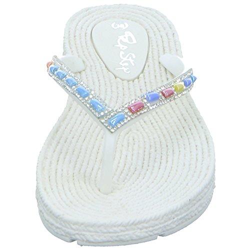 QUICK SCHUH GmbH & Co. KG 1004637, Infradito donna Bianco