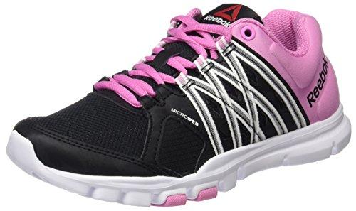 Reebok Yourflex Trainette 8.0, Chaussures de Running Compétition Femme, Mehrfarbig, UK Noir