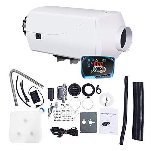 Hete-supply Termostato de Aire de 12 V/24 V para Aparcamiento, Pantalla LCD para Coche/camión/autobú/Furgoneta/Autocaravana/autobú/autobús.