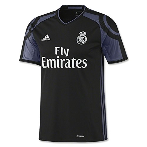 Adidas Real Madrid CF 3rd Youth Jersey-BLACK (M) (Madrid Youth-real Jersey Ronaldo)