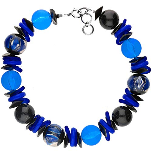 langani Halskette Bleu Damen-Kette schwarzen Perle Handmade Since 1952