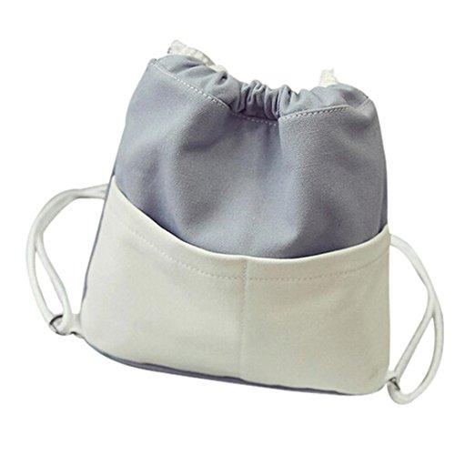 Transer  Women Shoulder Bag Popular Girls Hand Bag Ladies Canvas Handbag, Damen Schultertasche rose 30cm(L)*30(H)*2cm(W) grau