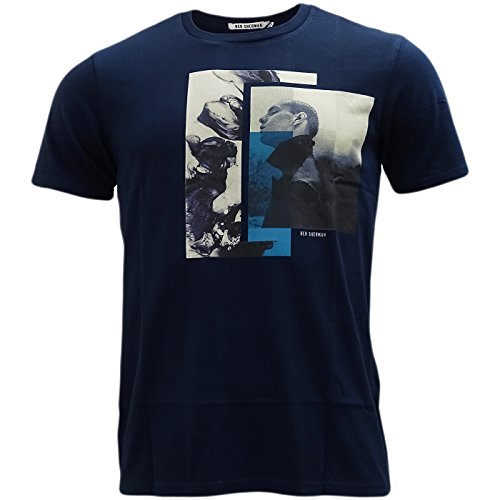 Ben Sherman Herren T-Shirt, Einfarbig Navy