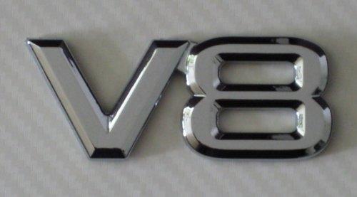 Preisvergleich Produktbild V8 Chrom Emblem, Schriftzug selbstklebend