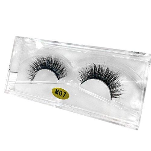 Damen Wimpern, SHOBDW 3D Natürliche Multi Layer Dickes Kreuz Auge Wimpern Falsche Wimpern (M07) (Augenbrauen Färben Natürliche)