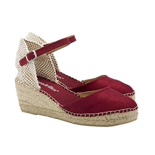 2 Espadrilles - Alpargatas Fabricadas a Mano en España Espadrilles Esparto Zapato para Mujer Tacón...