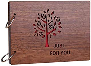 Comeonbaby® 'JustForYou' Wood Pasted Photo Album (22 cm x 16 cm x 4 cm, Brown)