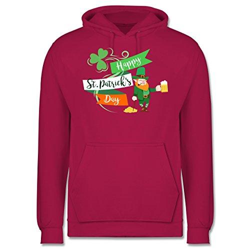 St. Patricks Day - Happy St. Patricks Day Kobold - Herren Hoodie Fuchsia