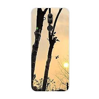 Aksuo for Huawei Mate 20 Lite Slim Shockproof Case, Exquisite Pattern Design Clear Bumper TPU Soft Flexible Rubber Silicone Skin Back Cover - Q-Huawei Mate 20 Lite-62
