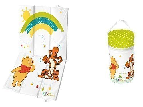 Preisvergleich Produktbild 2er Set Reise - Wickelauflage + Warmhaltebox XXL Winnie Pooh weiß
