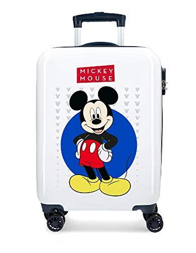 Maleta Cabina de 55 cm, rígida, 4 Ruedas, diseño de Mickey Mouse, Co