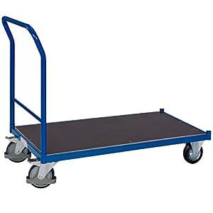 pro-bau-tec 14021 Profi-Plattformwagen, 500 kg, blau