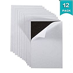 Caydo Flexible Adhesive Magnetic Sheets Paper 4-inch x 6-inch, 12 Pack