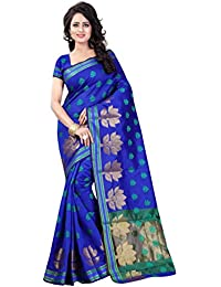 Vatsla Enterprise Women's Cotton Silk Saree (VTASHA001BLUE_BLUE)