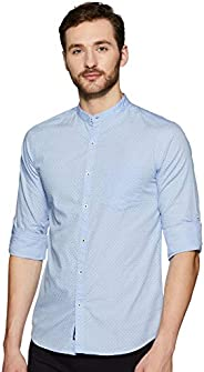 Amazon Brand - Symbol Men's Printed Regular Fit Full Sleeve Cotton Casual S