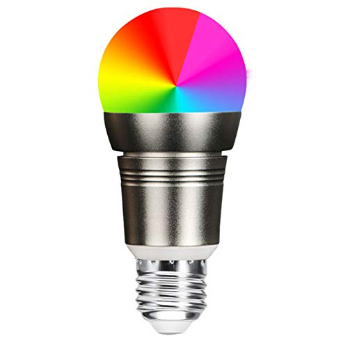 Wifi Smart Lampe, Wlan LED Dimmbar Glühbirne 7W, E27, 600LM Smart Home Birne Amazon Alexa Echo Kompatibel, Wake Up-Light LED,Weiß, Bunt, Steuerbar Via App,Kein Hub Erforderlich [4 Pack]