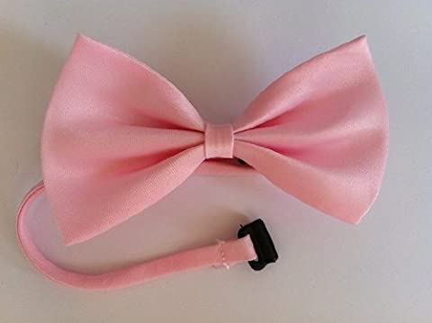 Adjustable Baby Pink Dog Pet Bow Tie Collar Accessory Necktie Fancy Dress - Pet Supplies By Accessorybee