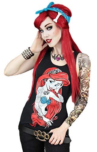 leine Meerjungfrau Tattoo Top - Schwarz (XS - DE 34) ()