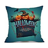 SEWORLD Happy Halloween Kissenbezüge Leinen Sofa Kissenbezug Home Decor A