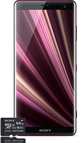 Sony Xperia XZ3 Smartphone Bundle (15,2 cm (6 Zoll) OLED Display, Dual-SIM, 64 GB interner Speicher, 4 GB RAM, Android 9.0) Red + gratis 64 GB Speicherkarte [Exklusiv bei Amazon] - Deutsche Version