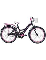 """Bicicletas Sin Cambio Para Niña """"ADRIATICA GIRL Rueda"""" 20"""", Color Negro y Rosa"""