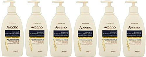 x6-aveeno-skin-relief-moisturiser-lotion-shea-butter-hydrate-24-hours-300ml