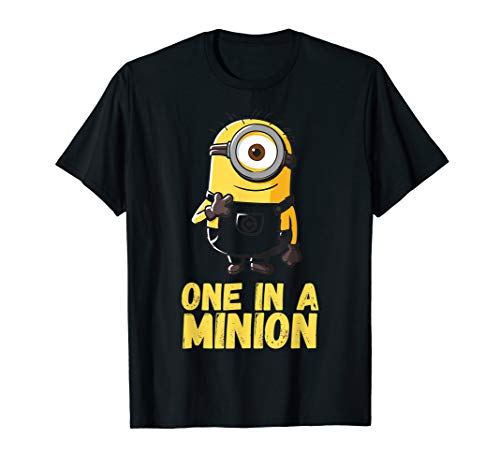 Despicable Me Minions One In A Minion Yellow Text Portrait T-Shirt (Shirt One In A Minion)