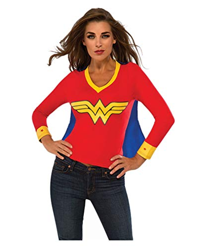 Horror-Shop Lizenziertes Wonder Woman Shirt S (Woman Und Wonder Cape T-shirt)